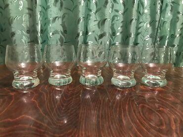 Бокалы стекло, 5 штук