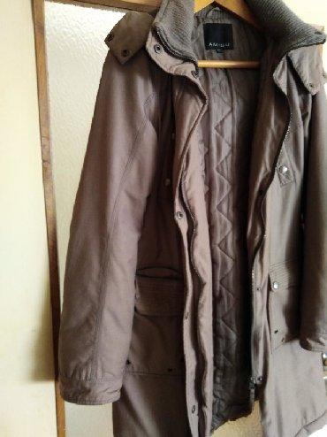 Ženska odeća   Sremska Kamenica: Ženska topla jakna, Amisu, vel. 36, dužina 87,širina ramena 38dužina