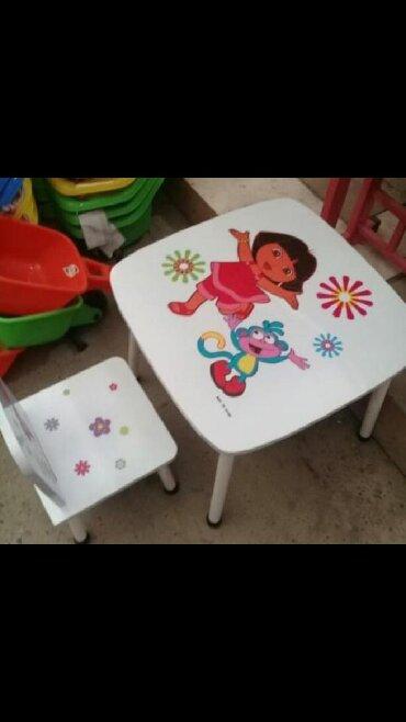 uşaq masaları - Azərbaycan: Usaq ucun masa 2- 6 yas 60 azn seher daxili catdirilma anbardan