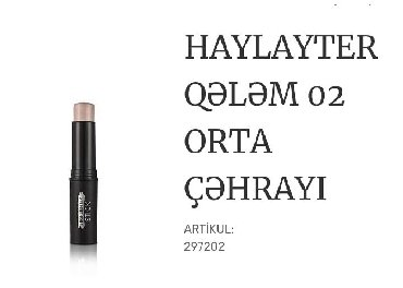 Kosmetika - Xırdalan: Qelemin teksturasi isigi eks etdiren maddelerle zengindir.Butun deri