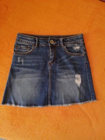 Zara teksas suknja za devojcice 9/10 godina. Poluobim struka - Novi Sad