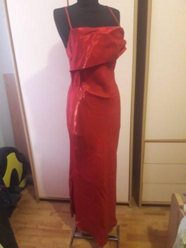 Crvena plisana haljina - Srbija: Satenska crvena haljina S-M