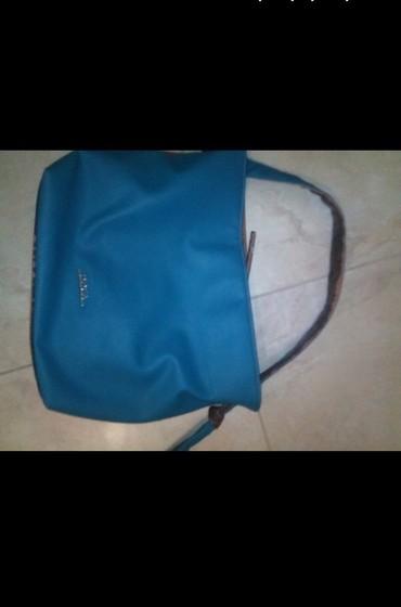 ΝΕΝΑ DOCA δίχρωμη τσάντα ταμπα-πετρολ σε Σκύδρα - εικόνες 2