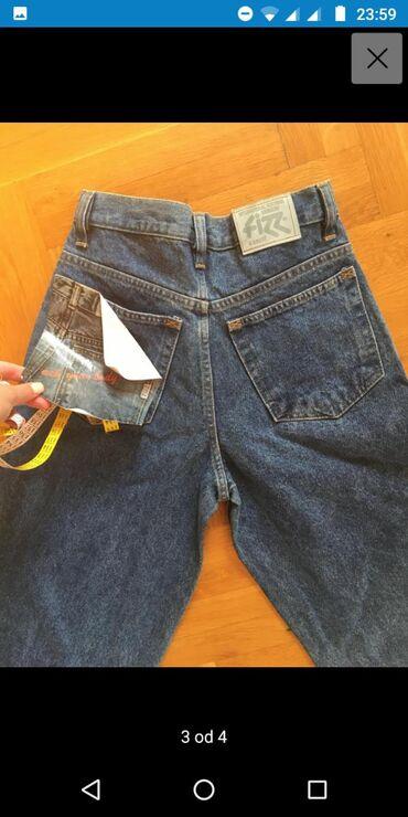 Farmerice ženske mama jeans,dubokog struka u butinama širi model, br