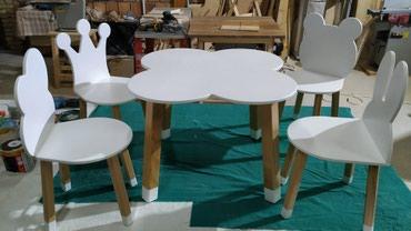 Sto i stolice za decu od drveta zaštićeni ekološkim bojama i - Kovin