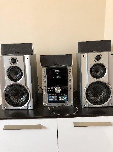 акустические системы qitech колонка в виде собак в Кыргызстан: Музыкальный центр PANASONIC Чейнджер на 5 дисков  Поддержка MP3 DVD AU