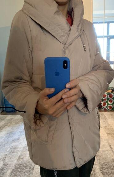 Куртки - Бежевый - Бишкек: Очень удобная, мягкая, при этом тёплая куртка. 250 сом. Размер М, на S