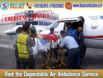 Sky Air Ambulance Services in Delhi with All Advanced Medical Services in Kamalamai