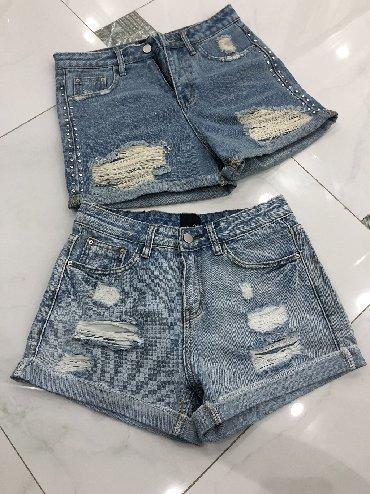 шорты джинсовые в Кыргызстан: Продам шорты джинсовые . Надеты по 1 раз. Размер s-m, 42-44. Дешево