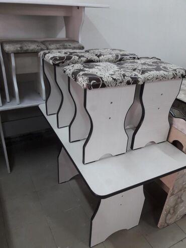 стол с табуретками in Кыргызстан   ДРУГИЕ ТОВАРЫ ДЛЯ ДОМА: Стол с табуретками 4000сомов