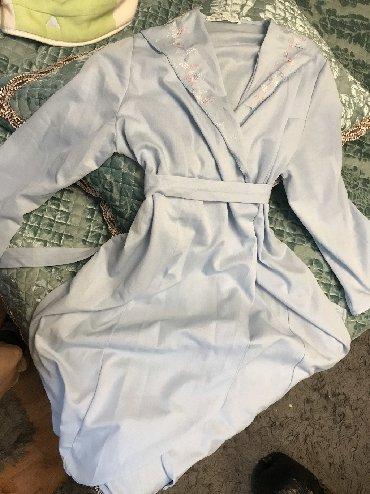 Домашние костюмы - Кыргызстан: Ночной халат голубого цвета состояние хорошее
