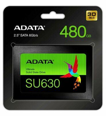 Sərt disklər və səyyar vincesterlər - Azərbaycan: SSD ADATA SU630 - 480 GB