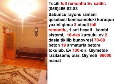 Bakı şəhərində Tecili full remontlu Ev satilir
