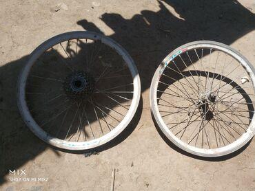 Спорт и хобби - Каракол: Продаю колеса от велосипеда скоростной размер 20 все работает на