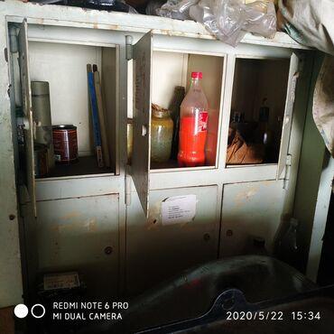 Сейфы - Кыргызстан: Продаю шкаф металлический для инструмента и т.п. размеры : 160 х 84 х