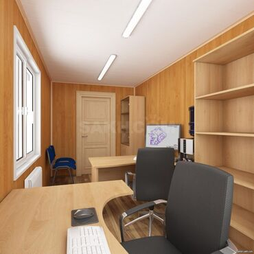 Soyuducu konteyner - Azərbaycan: Sandviç panel Lüks ofis konteyneri icarəsi (kirayə):Uzunluq: 7mEn