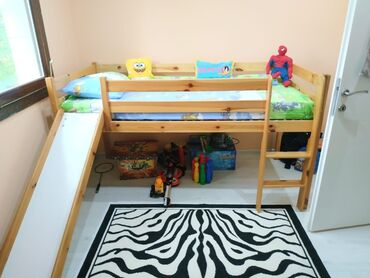 Peci na drva - Srbija: Krevet sa toboganom za dečiju sobu Kupljen u Nemačkoj,od punog drveta
