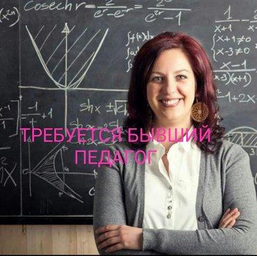 ТРЕБУЕТСЯ  БЫВШИЙ ПЕДАГОГ в Бишкек