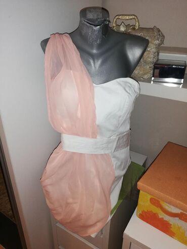 Korset waggon - Srbija: Nova neobicna korset haljina elastin sa rozim tilom