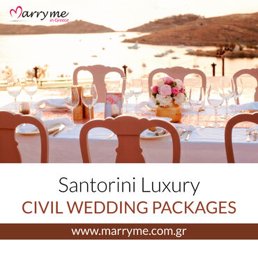 Marry me in Greece offers a wide range of wedding packages to meet you