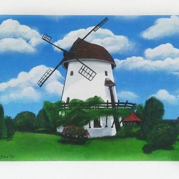 Kućni dekor - Sremski Karlovci: Umetnička slika Akril na platnu 50x70cm
