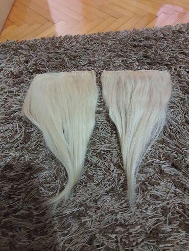 Ostalo   Loznica: 2 klipse Priroda kosa 20 cm širina  40 cm dužina  Prirodna kosa