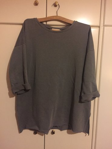 Dark grey oversised cotton asymetrical shirt.Worn once, excellent cond в Agia Varvara