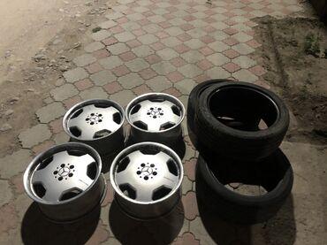 диски-воссен-цена в Кыргызстан: Продаю диски 18 р моно блог разно широкие с резиной не варенные
