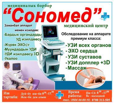 - Монуальная терапия - УЗИ всех органов - Эхо сердца - УЗИ суставов -У