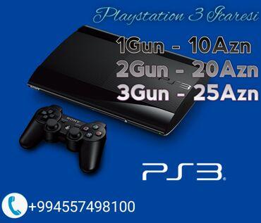 Playstation 3 İcaresi1Gun - 10Azn2 Gün - 20Azn3Gun - 25AznAparatlar Ən