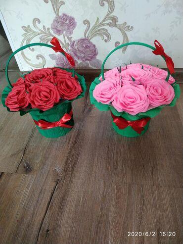 Розы из бумаги, ручная работа
