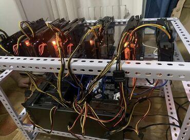 Электроника - Кыргызстан: Продаю майниг ферму. 6 видеокарт Gigabyte 1080. Выдают около 200 mh/s