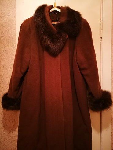 пальто лама в Кыргызстан: Продаю новое теплое кашемировое пальто. Зимнее. Мех лама. Размер 54