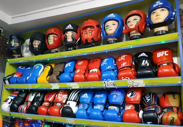 цена-боксерских-груш в Кыргызстан: Большой ассортимент боксерских перчаток, шлемов,снарядок Материал
