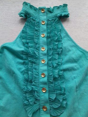 Prelepa pamucna majica tirkizne boje savrseno stoji,marka Kikiriki - Nis