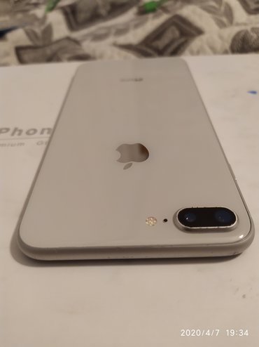 Apple iphone 8 plus silver 64gb Yaxşı veziyyetdedir real alcıya endrim
