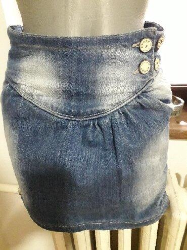 Denistar-farmrke - Srbija: Prelepa Denistar jeans suknjica vel S dužina 36 cm ima elastina i u
