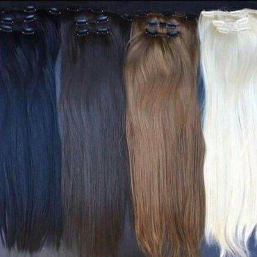 Sako boja - Srbija: Umetci za kosu na klipse (snalice) u svim bojama i nijansama. Raznih