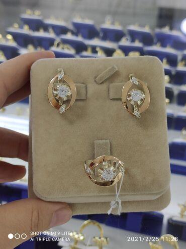 Очень красивый и классический НаборСеребро под золото 925 пробыКамни