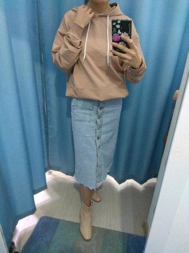 Джинсовая юбка-миди на талии.  Размеры xs s m, от 40 и до 44 размера