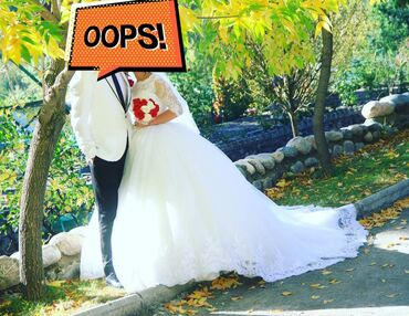 Продам или на прокат свадебное платье размер регулируется (42-46)