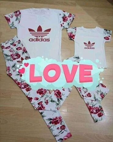 Adidas komplet za majku i dete 2 kompleta 3300 ceka se šivenje 15 dana