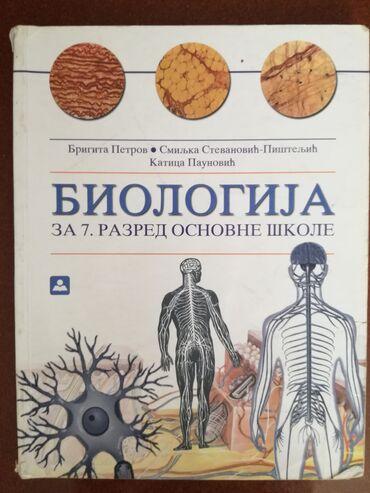 Izdavanje - Srbija: Biologija za 7. razred, Zavod za udžbenikeKnjiga je očuvana, bez
