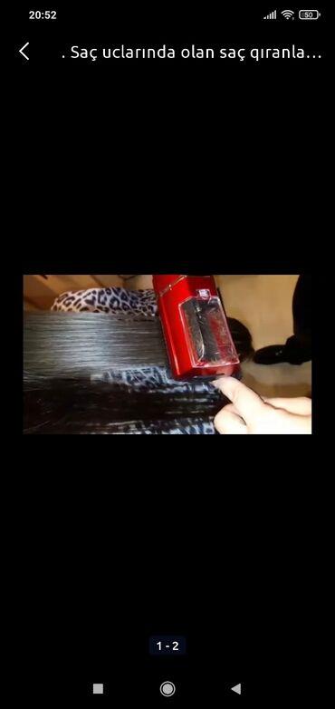 Saç qirani təmizləyən aparat yenidir