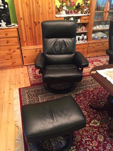 Kuća i bašta - Zabalj: Kožne stolice na prodaju sa naslonom za noge, prava koza. Za vise info