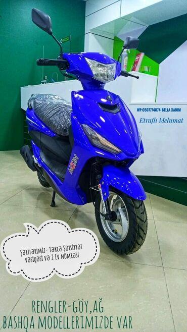Motosiklet və mopedlər - Azərbaycan: Kredi̇t veri̇li̇r✔ağ rengi varbashqa modellerimizde var baxmag ve
