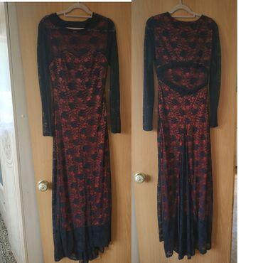 Вечернее платье,с открытой гипюровой спинкой и небольшим шлейфом. Цена