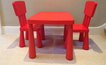 купить качалку детскую в Кыргызстан: Детский стол и стулья Икеа в отличном состоянии