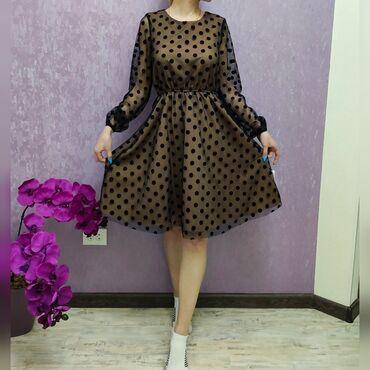 Платья - Новый - Бишкек: Продаю платья1. Платье в горошек, новое 2. Платье градиент