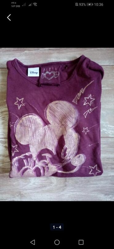 4 markirane bluzice bez oštećenja, Xs, S veličine ili za devojčice